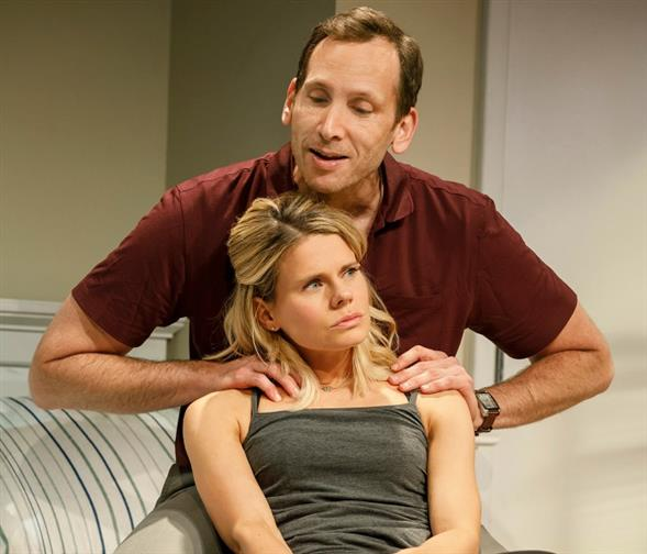 "Celia Keenan-Bolger and Stephen Kunken in ""A Parallelogram"""