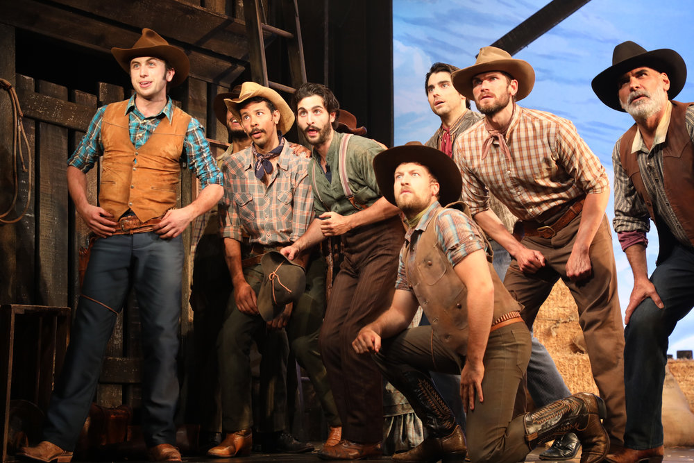"Cowboys of ""Oklahoma!"" Photo by Diane Sobolewski"