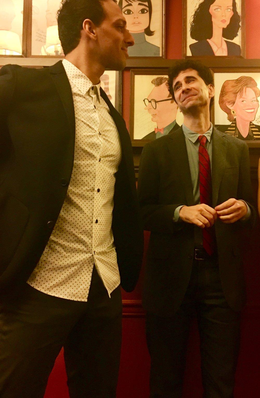"Ari'el Stachel and John Cariani in ""The Band's Visit"""