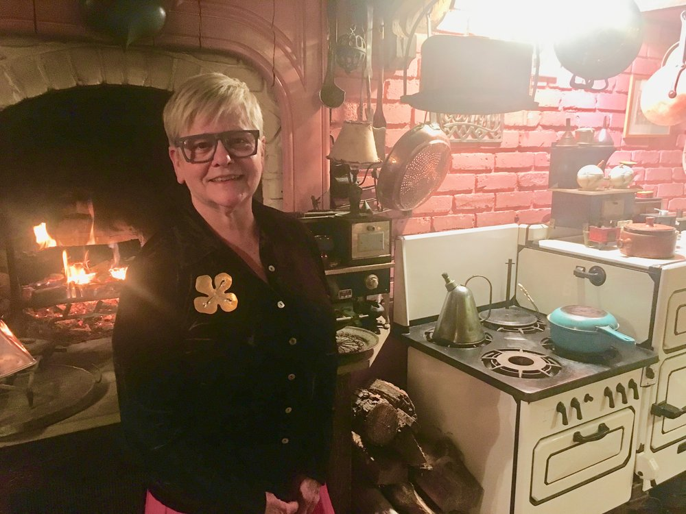 Carole in her kitchen. (All photos, except Good New Cafe photo,by Frank Rizzo.)