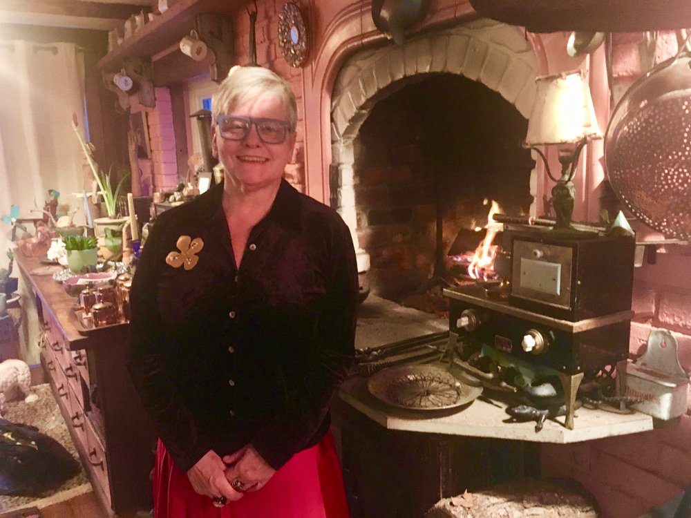 Carole has a collection of miniature stoves.