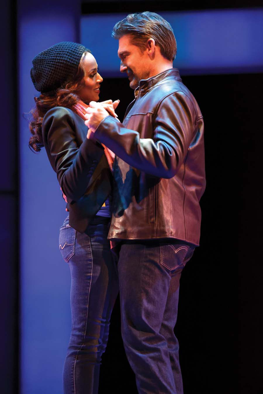 "Deborah Cox and Judson Mills in ""The Bodyguard"" Photo by Joan Marcus."
