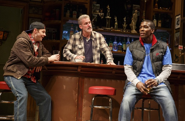 "James Colby (center) in Broadway production of ""Sweat"""