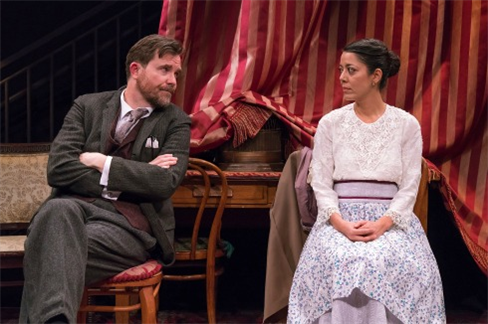 Eric Tucker and Vaishnavi Sharma in 'Pygmalion' Photos by Ashley Garrett.