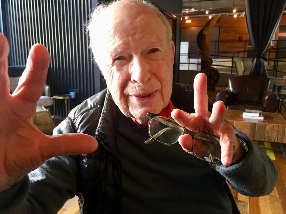 Peter Brook, New Haven Oct. 31, 2018. All photos of Brook by Frank Rizzo.