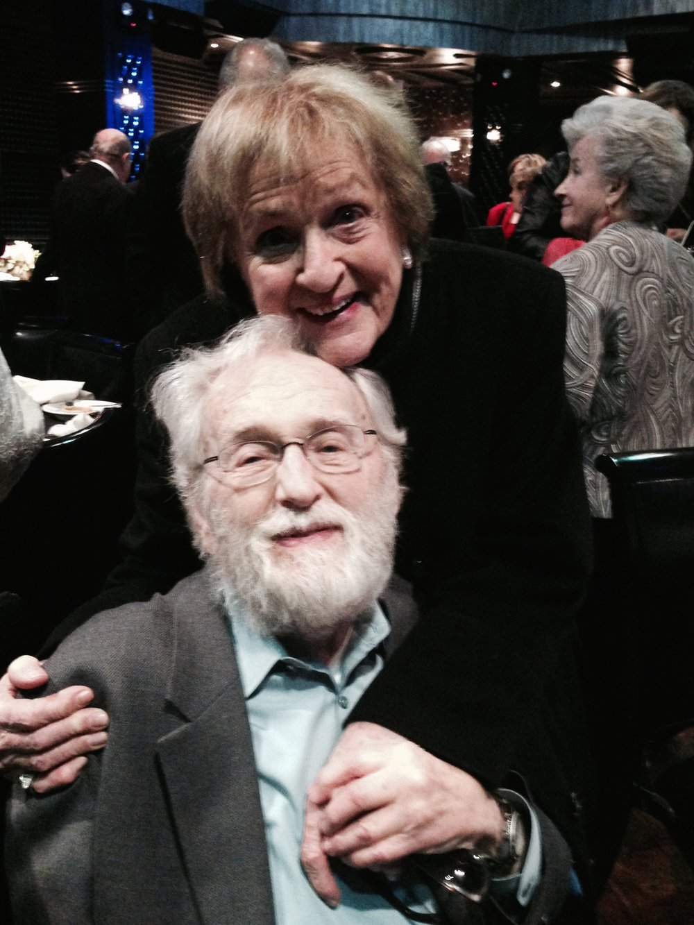 Alvin Epstein at 2014 event honoring Meryl Streep with Monte Cristo Award from the O'Neill Theater Center. Picture by Frank Rizzo.