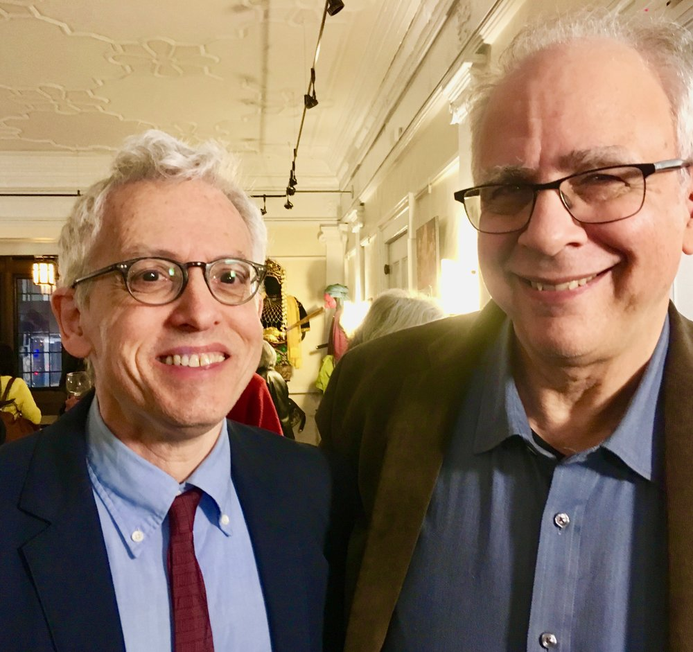 Donald Margulies (left) here with writer Jeffrey Sweet. Photo by Frank Rizzo