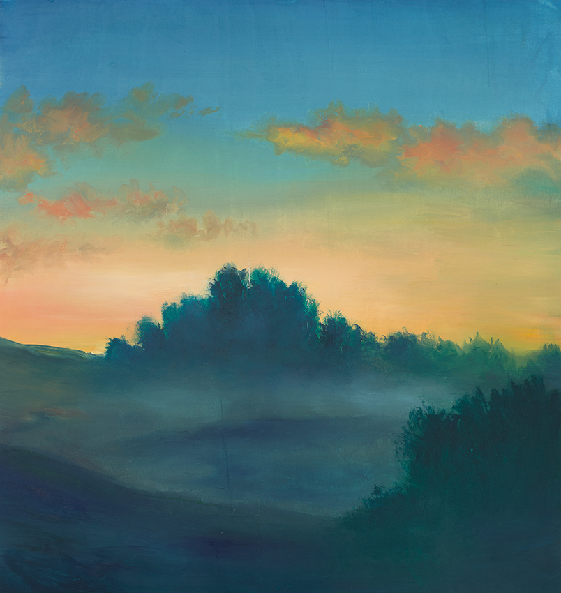 Dusk Over Dragon Hill - Oil on Board 2014