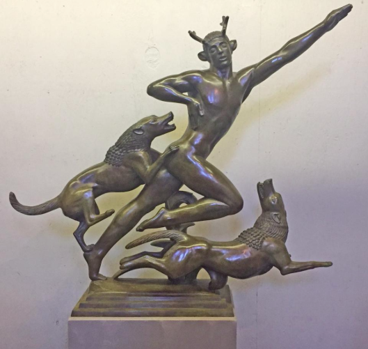 """Acteon"", from 1924, us emblematic of Paul Manship's predominant subject matter, the classical past. [Courtesy Photo]"