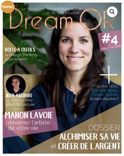Manon Lavoie dans le magazine Dream or #4