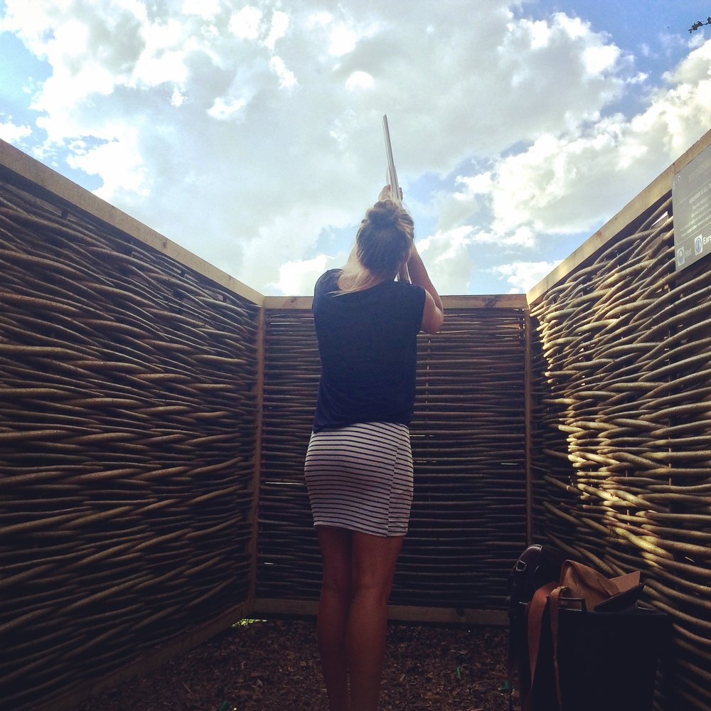 Clay shooting stand