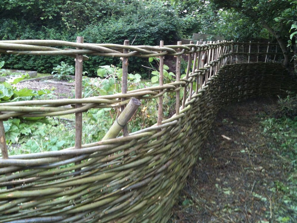 Willow Fence in a veg/Kitchen Garden