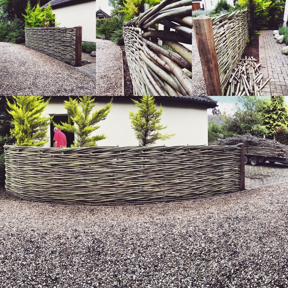 Natural woven fencing