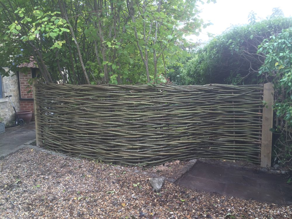 Simple woven natural fence