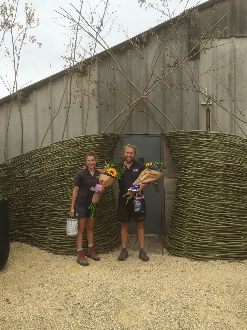 Woven willow sculptural entranceway