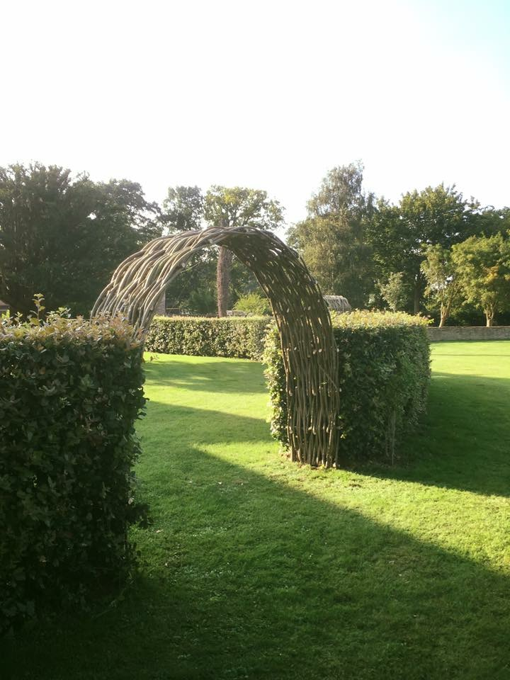 Graceful woven willow archways