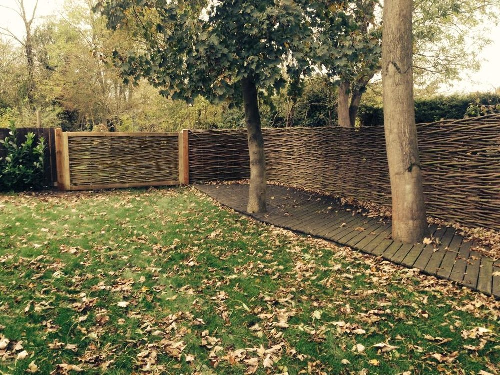Woven willow fence and field gate