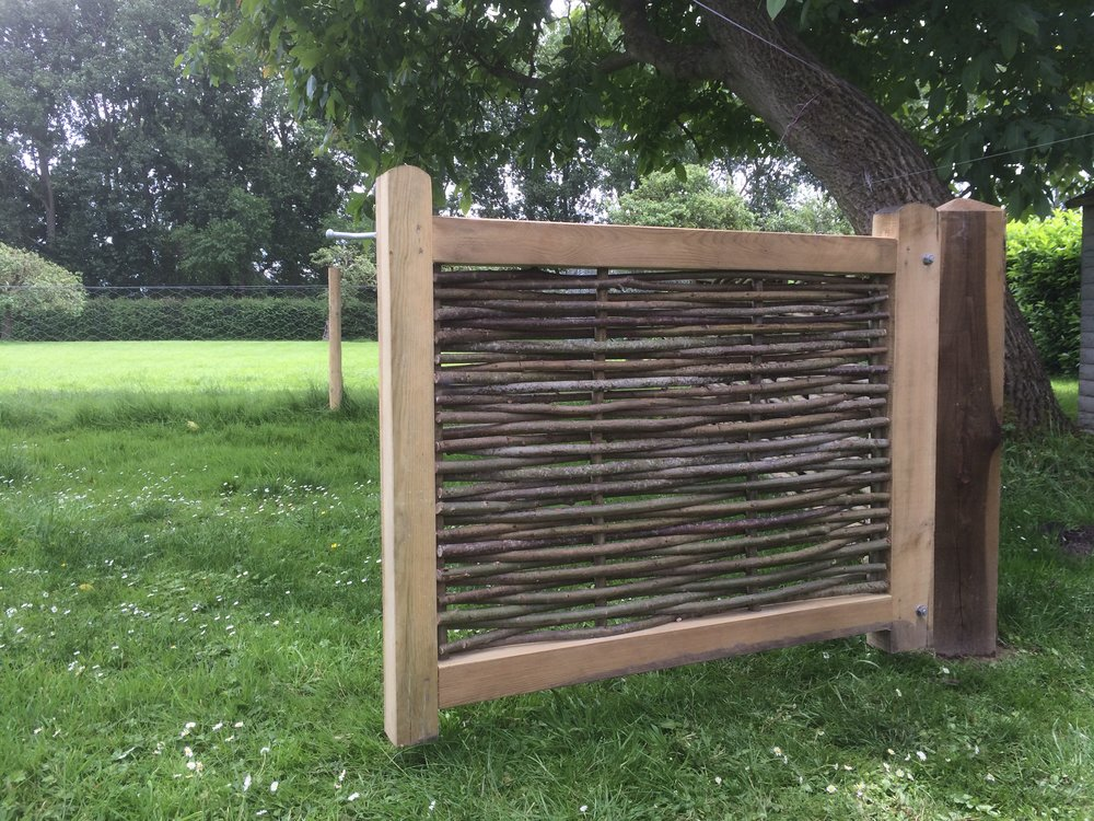 Woven willow gate