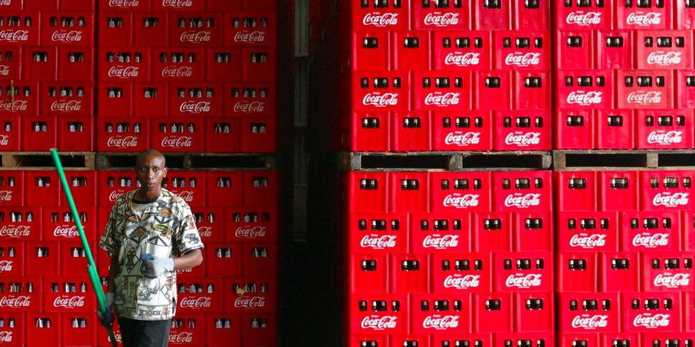 A man inside an African Coca Cola factory / Business Insider