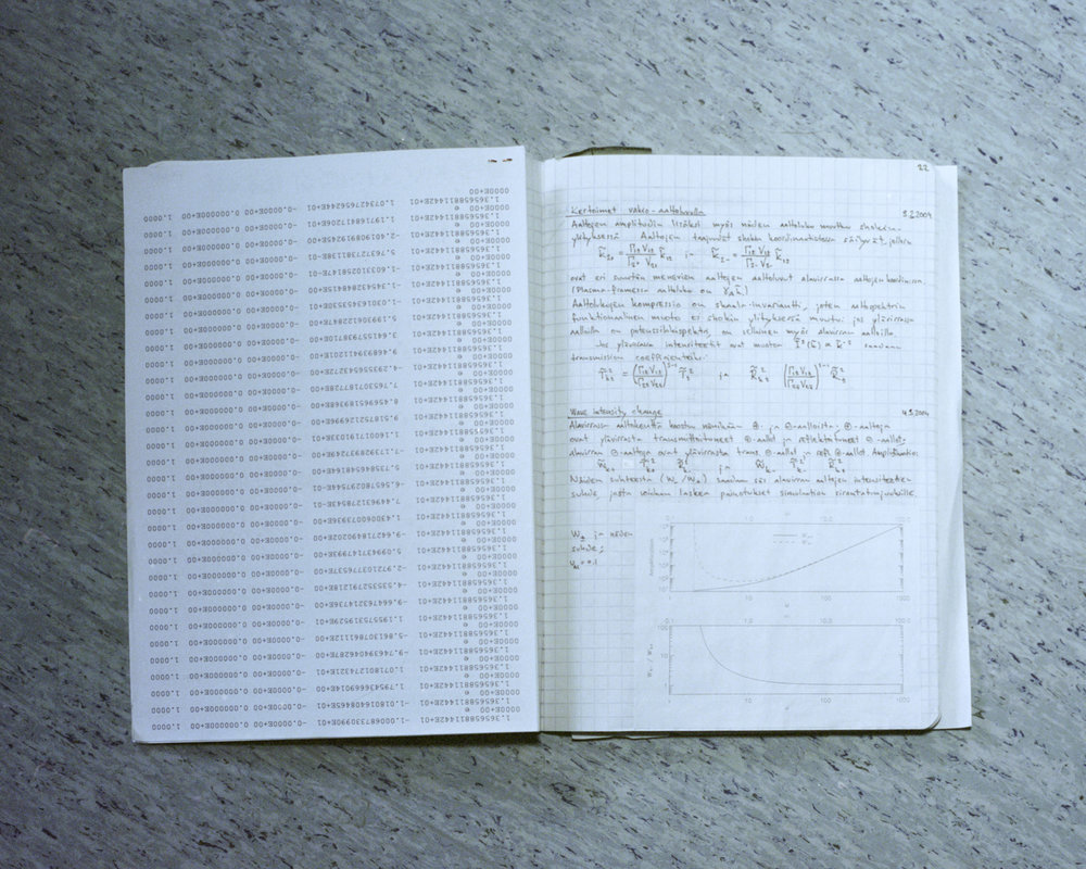 A page of Joni's old notebook.