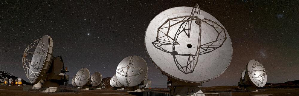 Figure 1: ALMA Observatory, Atacama, Chile. Photo credit: ESO/B. Tafreshi.
