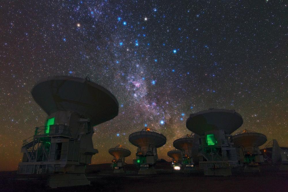 Figure 4: The night sky above ALMA Observatory, Chile. Photo credit: ESO/B. Tafreshi.