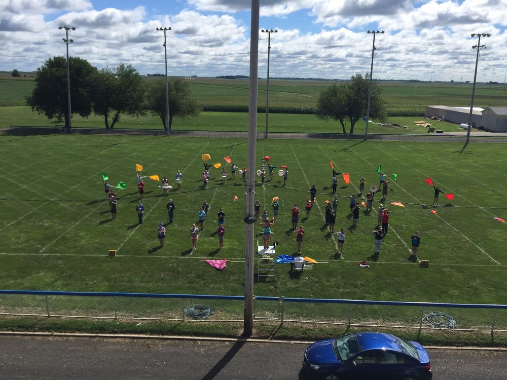 The Marching Storm rehearses for their preview show this past Friday, August 4