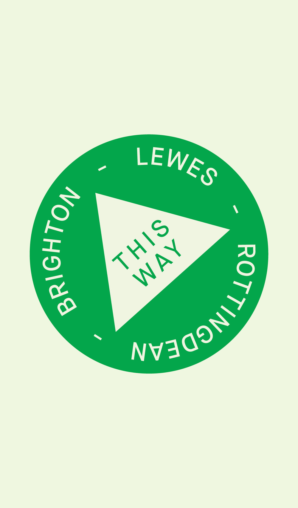 Brighton to Lewes Map