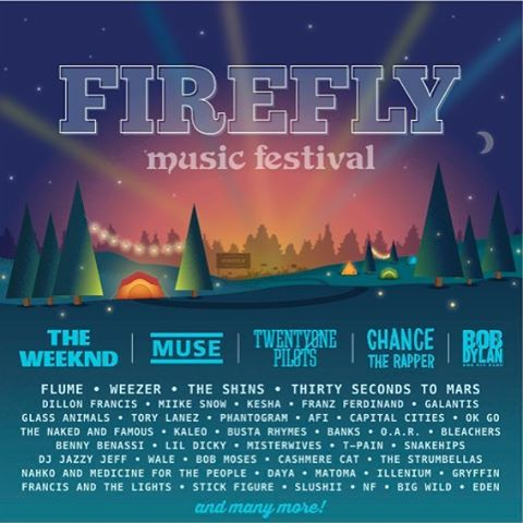 So damn pumped to play @fireflymusicfestival !!Two years ago, this was the first festival we ever played and we are so thankful to return! Also this lineup is 🔥🔥🔥