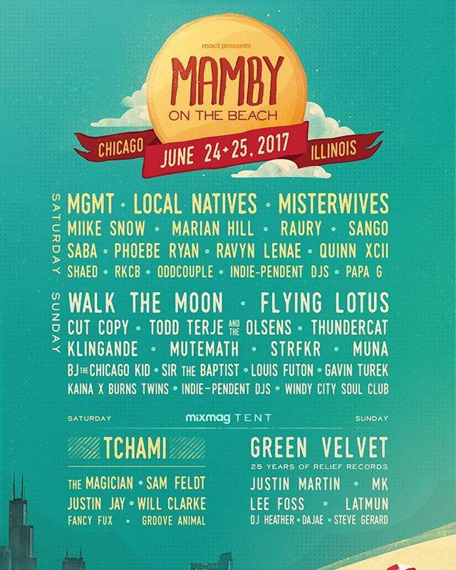 Can't wait for this Chi-town! Get your tickets and we'll c ya on the beach 🌊🏖🎶🎉☀️ @mambybeach www.MambyBeach.com