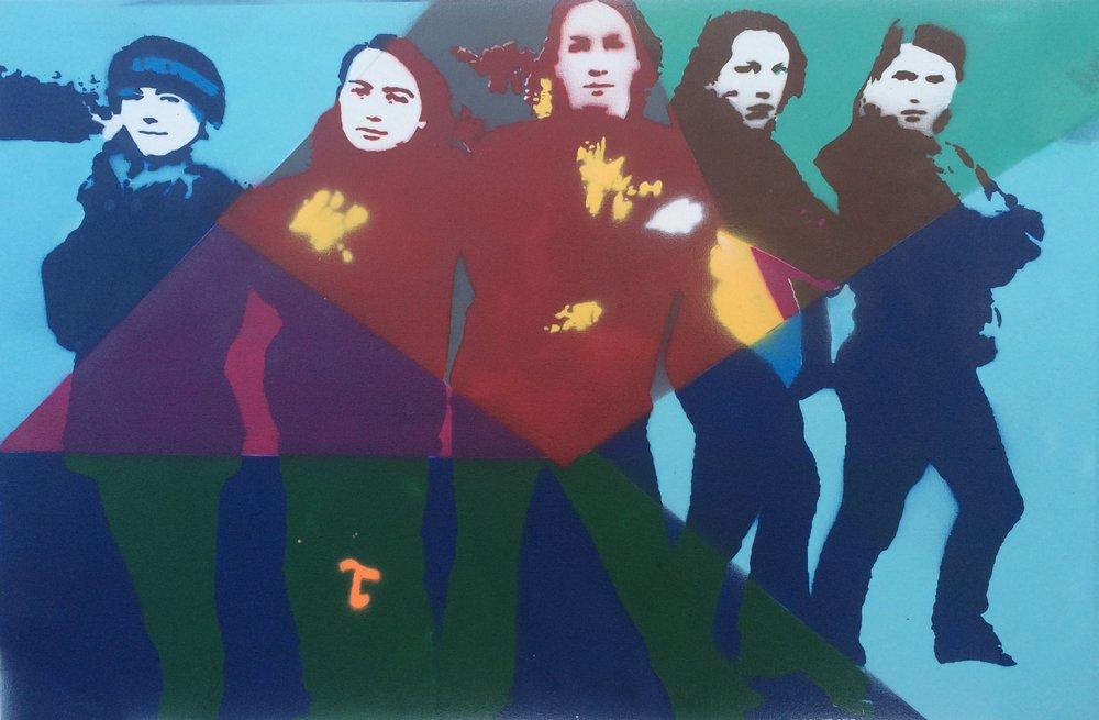 """Acrylic Spray Paint on Canvas  24""""x36"""""""