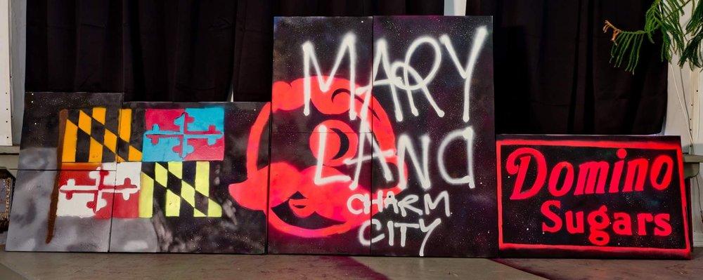 Acrylic Spray Paint on Canvas  Various canvas sizes