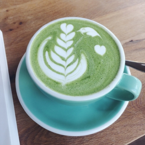 If you are in Düsseldorf, Germany visit Birdie & Co. they offer delicious Matcha Lattes with any kind of milk such as regular, almond, coconut, etc.