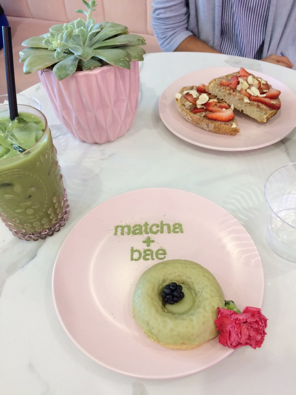 If you live in San Diego, visit Holly Matcha, they have everything Matcha. From Matcha lattes to Matcha donuts.