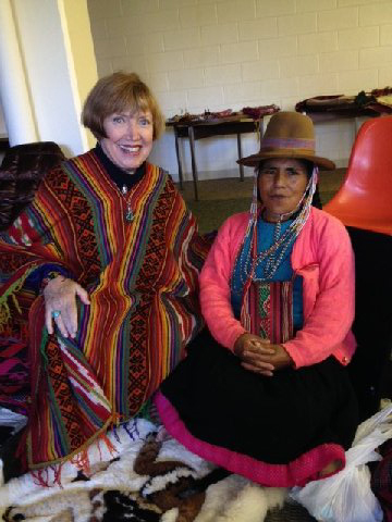 With Perurvian Shaman Doña Asunta in 2015
