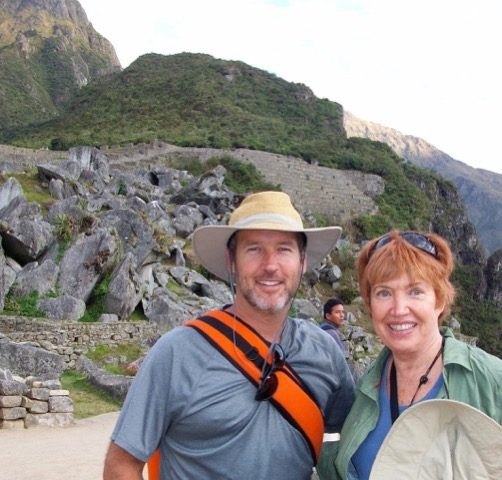Nancy and her son Kevin at Machu Picchu (Kevin is also a healer) in 2012