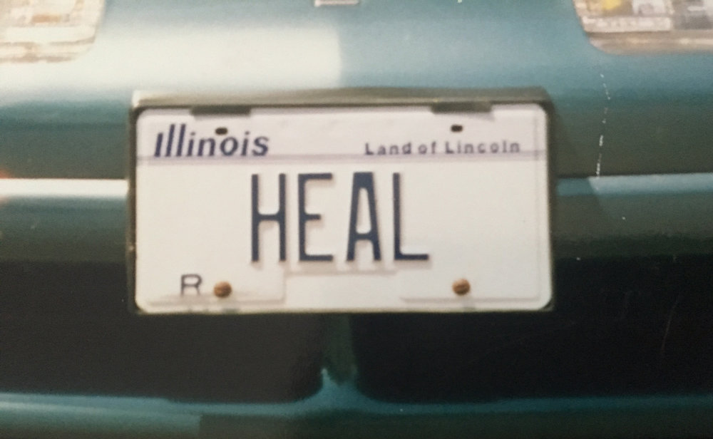 License plate from Nancy's teal heal-mobile