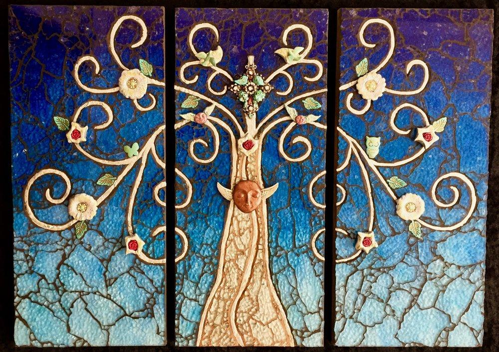 """Twilight - Triptych 18"""" x 24"""""""