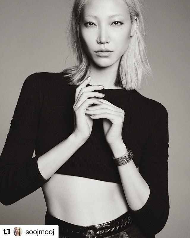 Beauty Soo Joo Park and her 0.88 ring #Repost @soojmooj ・・・ #codecoco @chanelofficial shot by @karimsadli styled by @leilasmara #088jewelry #088ring #soojoopark ✨