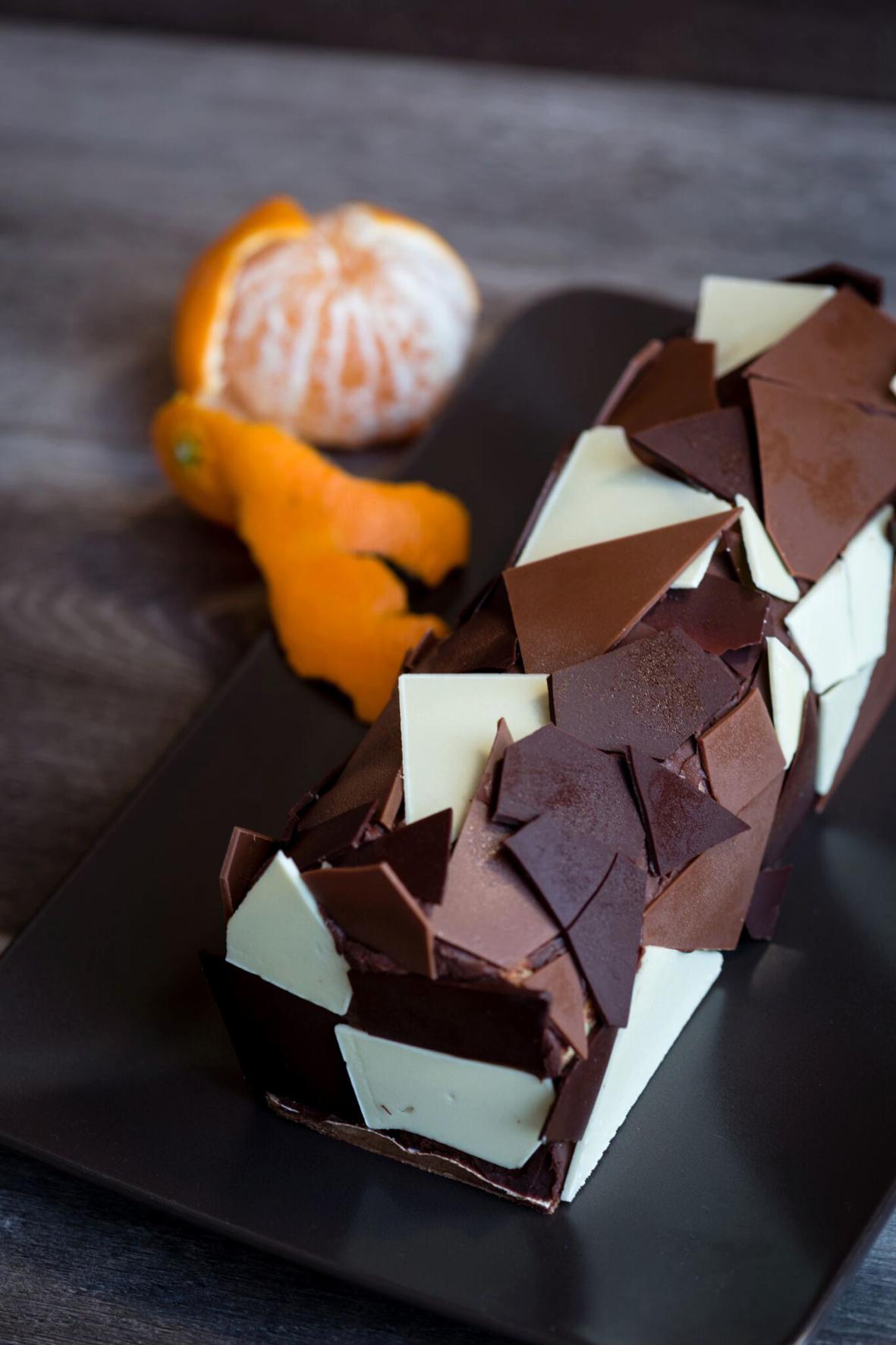 Buche de noel au trois chocolats