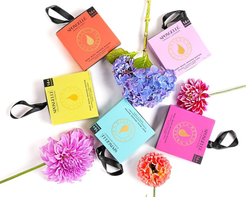Body Wash Infused Buffers offer a luxurious bathing indulgence - Spongellé Beyond CleansingNo code necessary for 35% off site wide and free shipping until 11/27/17 PST. US customers only.Popular: Boxed Flower Sponge ($16)