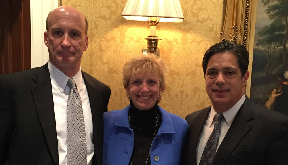 (L-R) Allegheny Conference CEO Dennis Yablonsky, GPCC Chair Laura Ellsworth and PA Senate Democratic Leader Jay Costa.