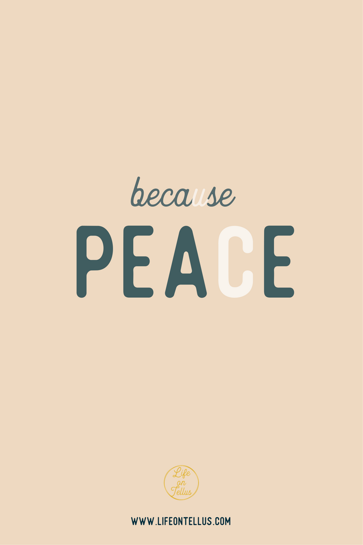 blog because peace