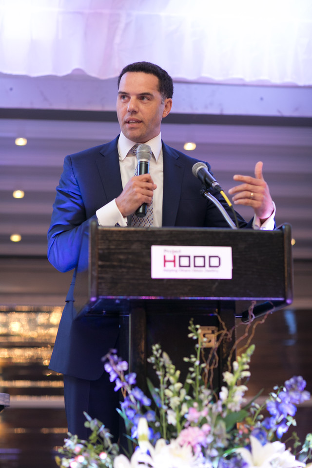 Steve Pemberton, Walgreens Boots Alliance Vice President and Chief Diversity Officer discussed the new facility donated to Project H.O.O.D. for its remarkable work in the Woodlawn community.