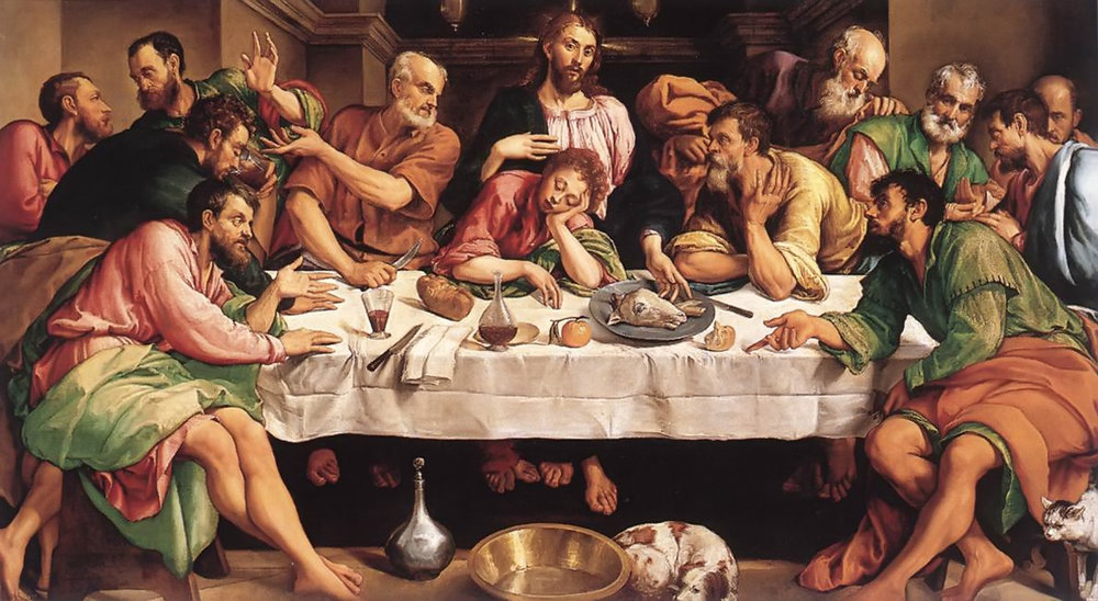 The Last Supper by Jacopo Bassano, 1542.