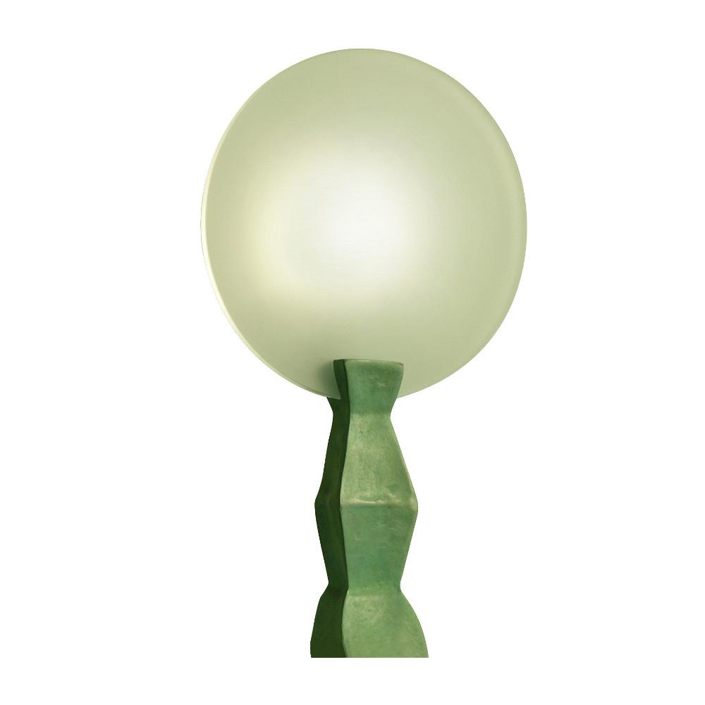 Lampe Lunebronze patiné vert
