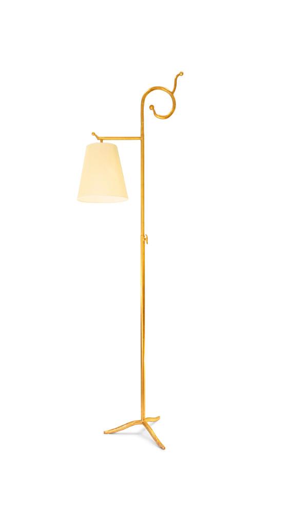 Lampadaire Crosse, version feuille d'or