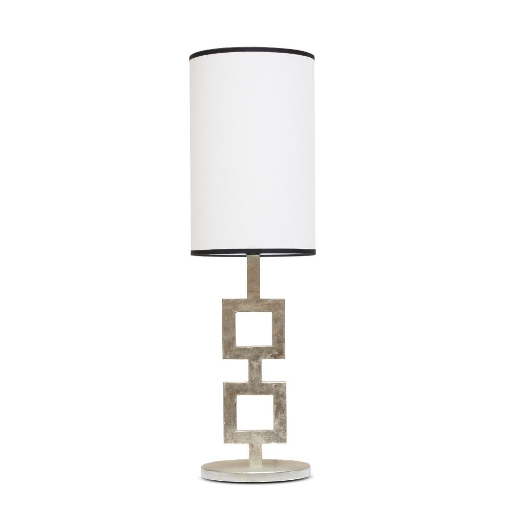 Lampe 2 Carrés or blanc
