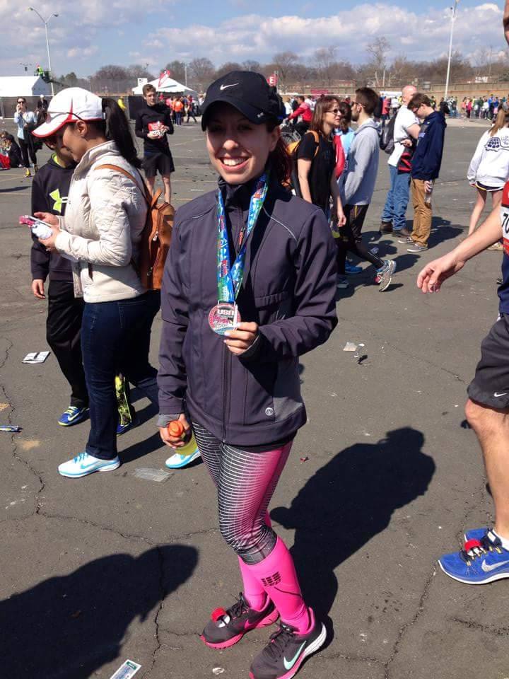 Me at the Rock and Roll Half marathon in Washington DC, my first half marathon!!