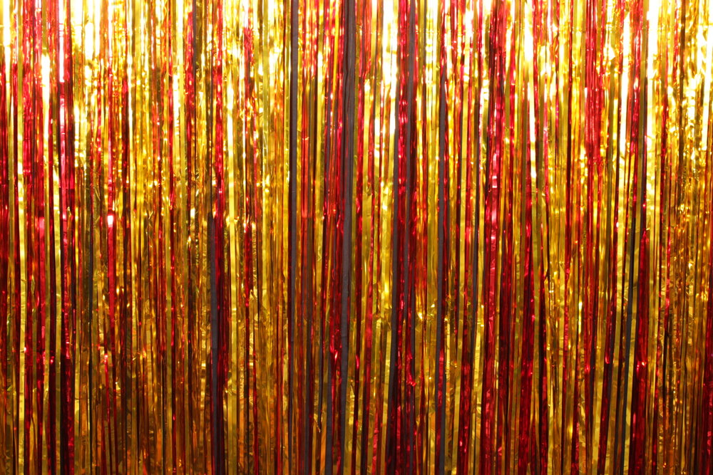 Gold & Red Tinsel*